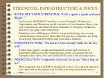 strengths infrastructure focus