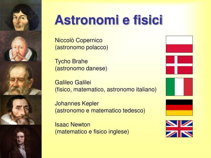 Astronomi e fisici