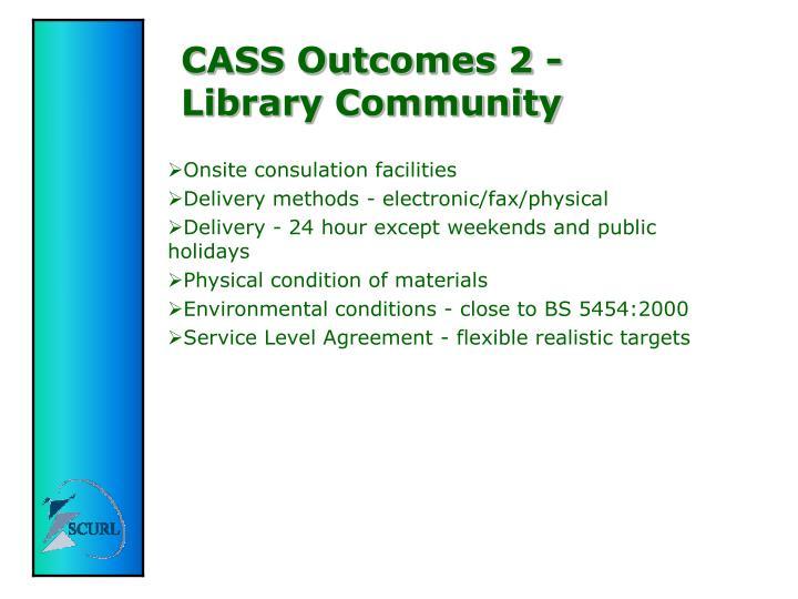 CASS Outcomes 2 -