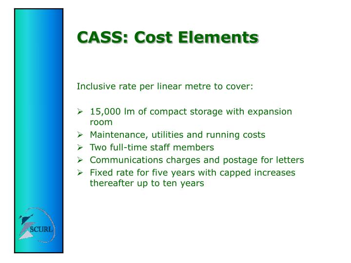CASS: Cost Elements