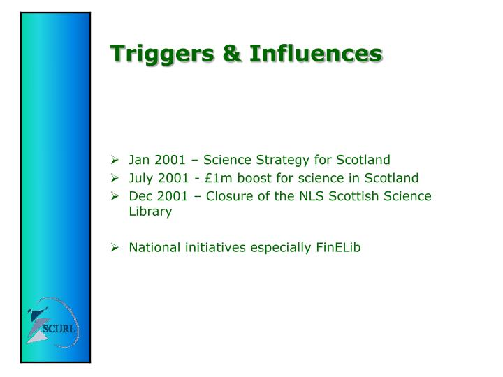 Triggers & Influences