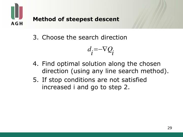 Method of steepest descent