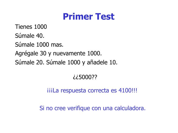 Primer Test