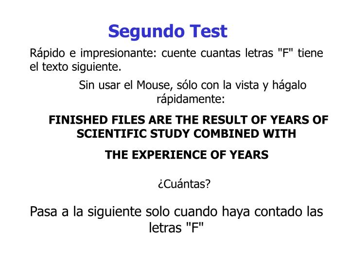 Segundo Test