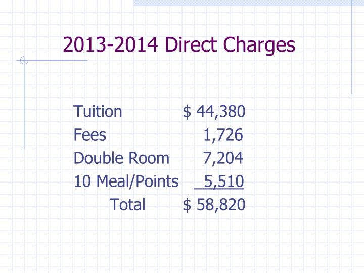 2013 2014 direct charges