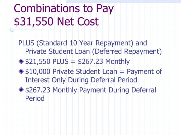 Combinations to Pay