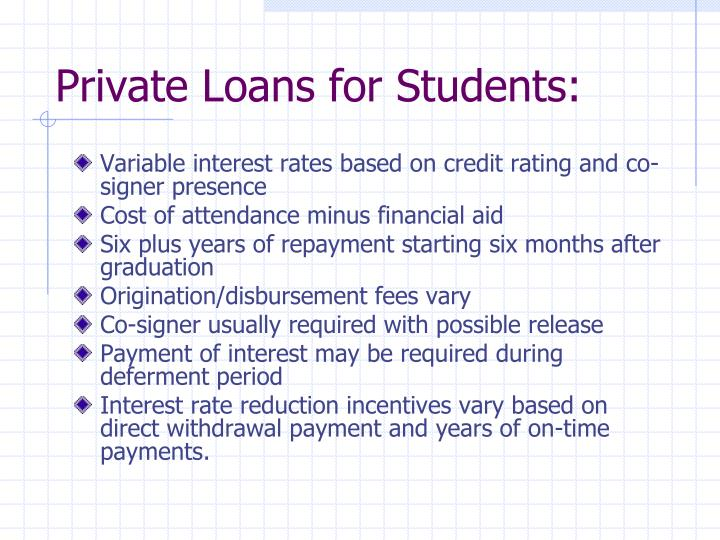 Private Loans for Students:
