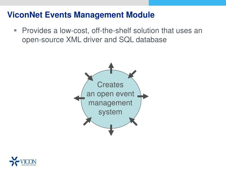 ViconNet Events Management Module