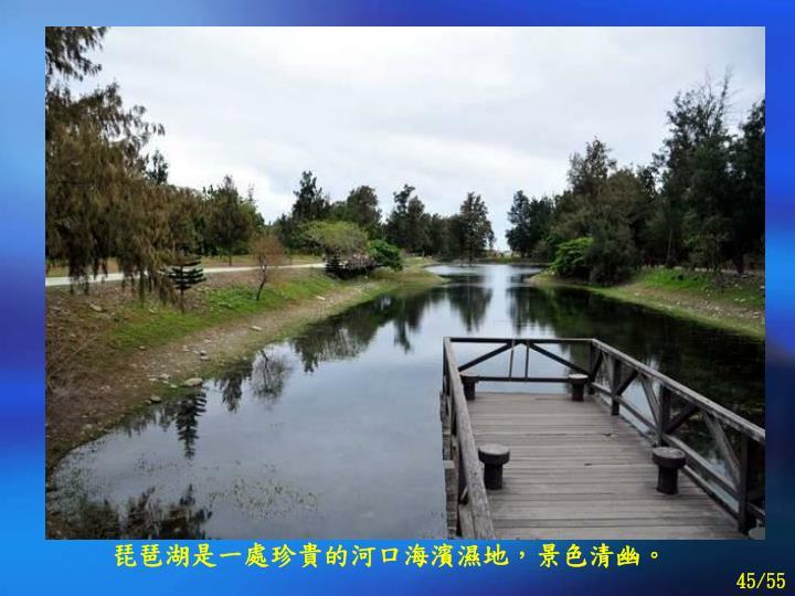 琵琶湖是一處珍貴的河口海濱濕地,景色清幽。
