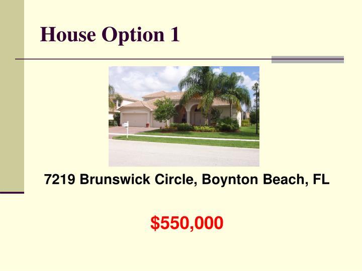 House Option 1