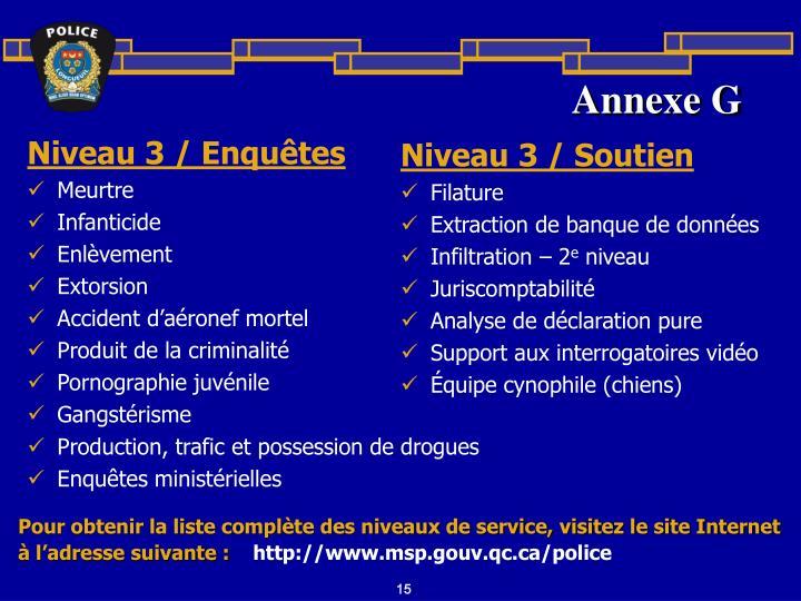 Annexe G
