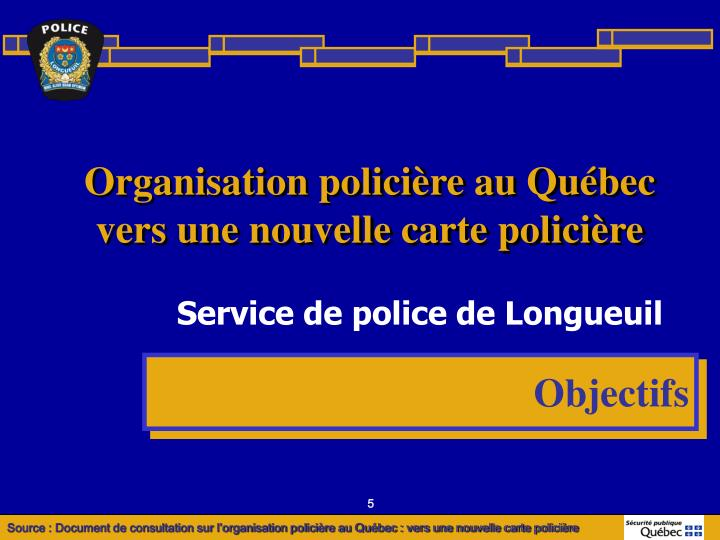 Organisation policière au Québec