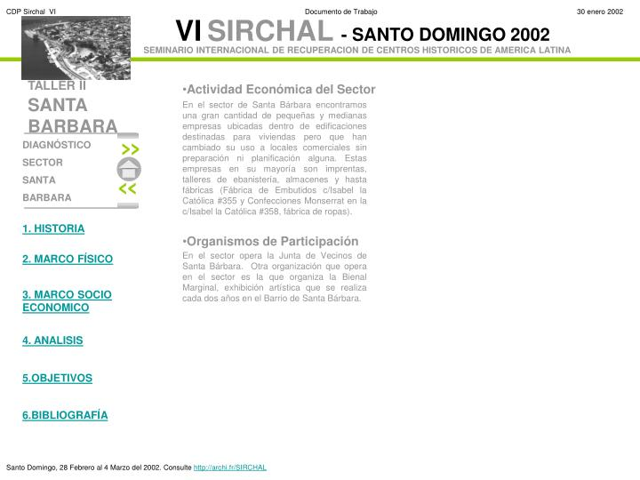 Actividad Económica del Sector