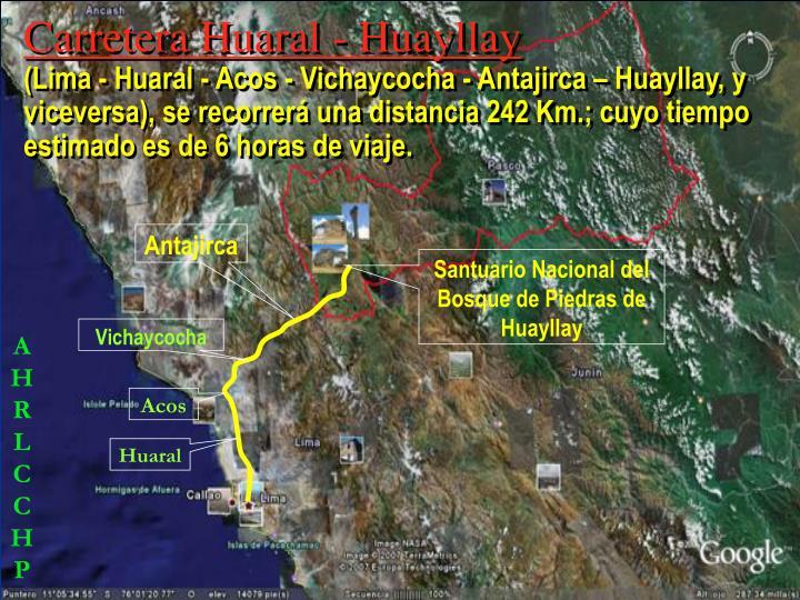 Carretera Huaral - Huayllay