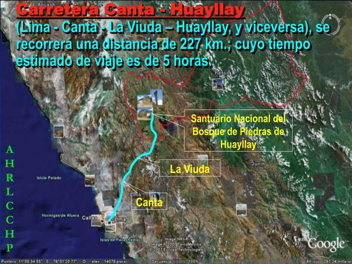 Carretera Canta - Huayllay