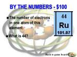 by the numbers 100