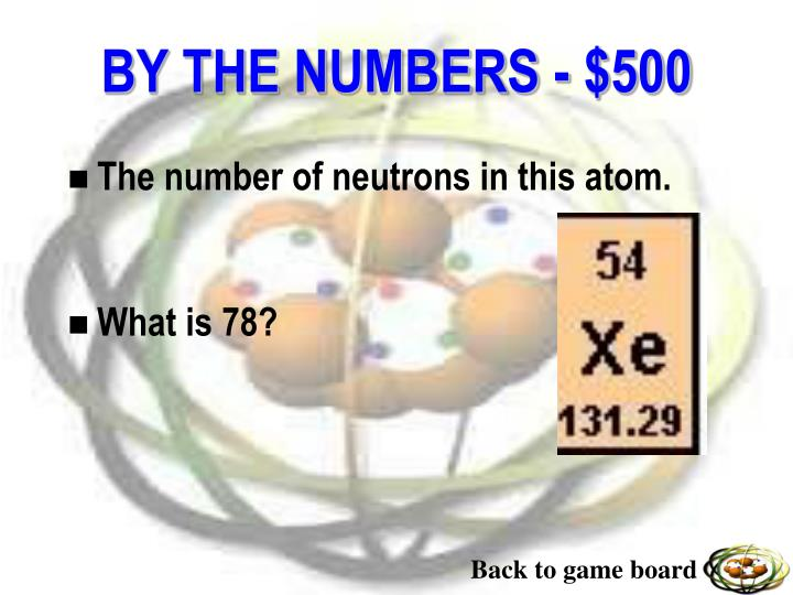 The number of neutrons in this atom.