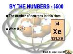 by the numbers 500
