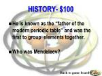 history 100