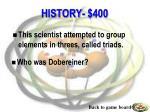 history 400