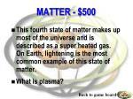 matter 500