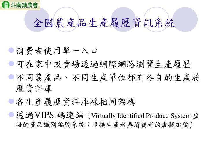全國農產品生產履歷資訊系統