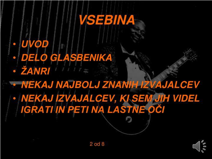 VSEBINA