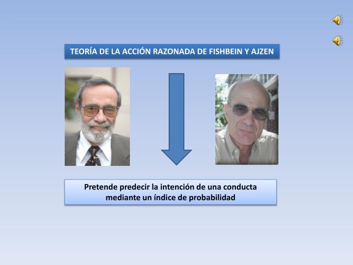 TEORÍA DE LA ACCIÓN RAZONADA DE FISHBEIN Y AJZEN