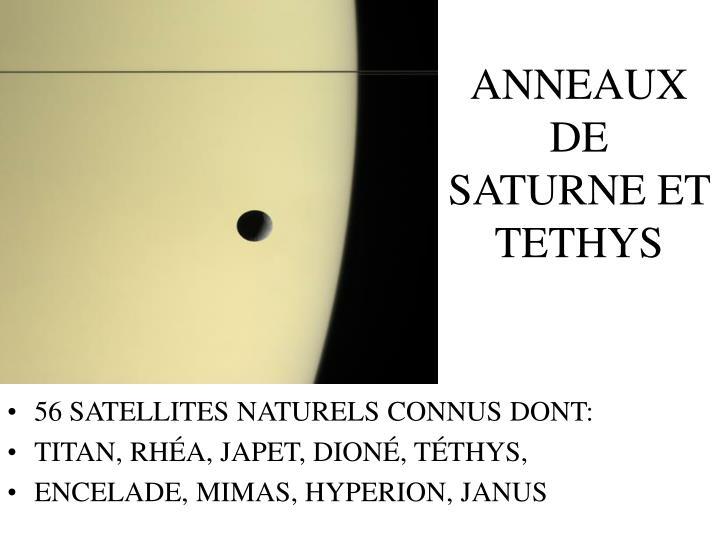 ANNEAUX DE SATURNE ET TETHYS