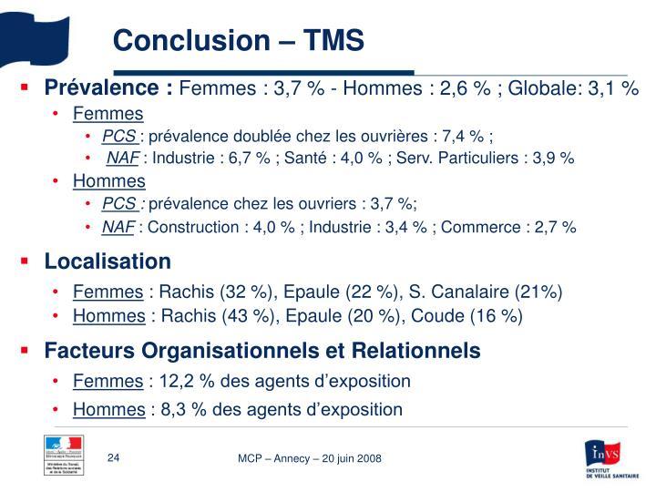Conclusion – TMS