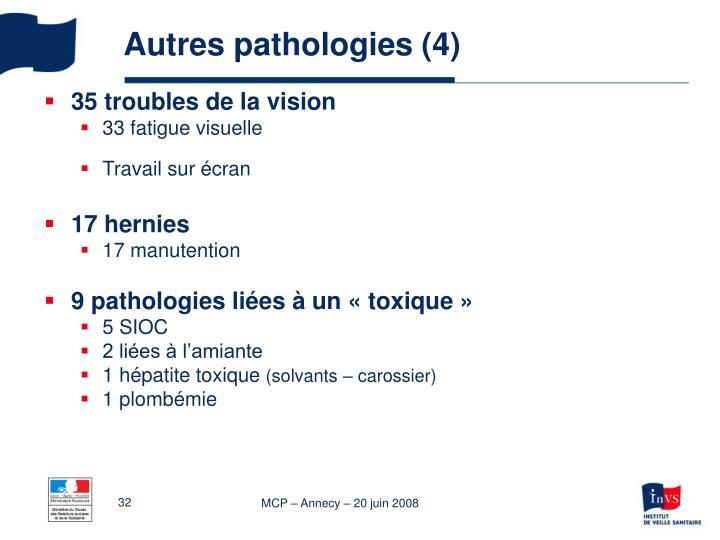 Autres pathologies (4)