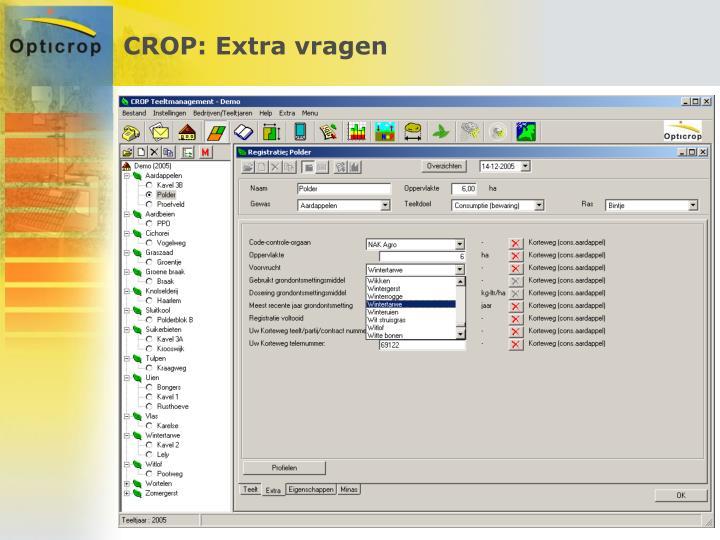 CROP: Extra vragen