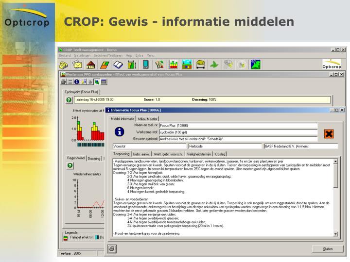 CROP: Gewis - informatie middelen