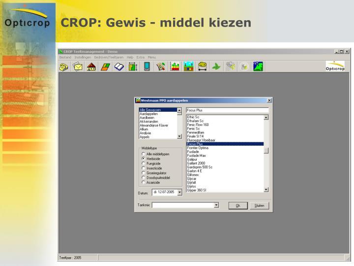 CROP: Gewis - middel kiezen