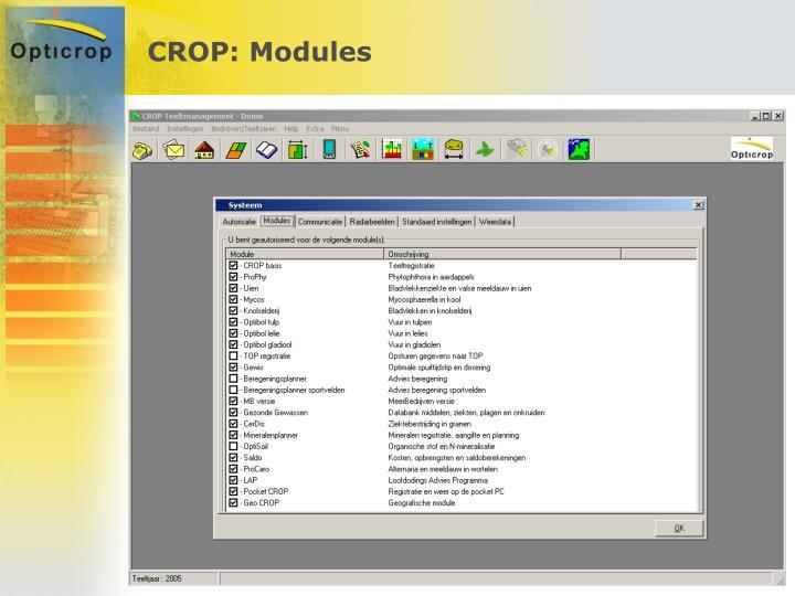 CROP: Modules