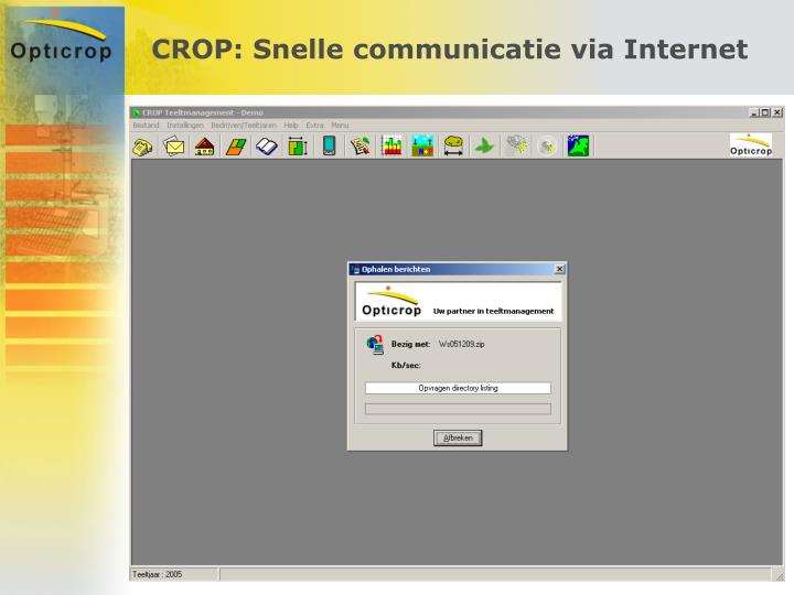 CROP: Snelle communicatie via Internet
