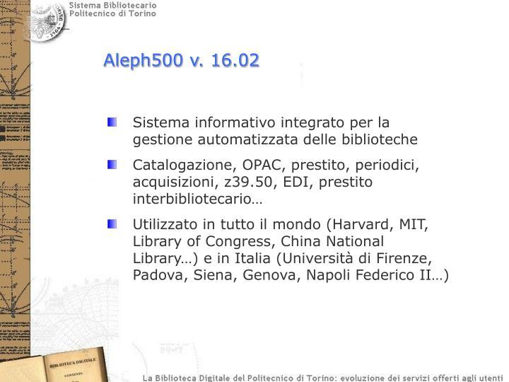Aleph500 v. 16.02