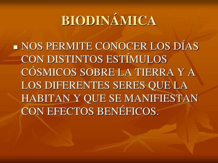 BIODINÁMICA