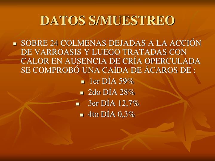 DATOS S/MUESTREO