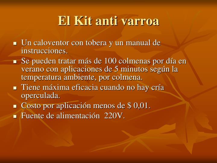 El Kit anti varroa