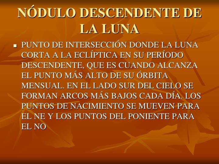 NÓDULO DESCENDENTE DE LA LUNA
