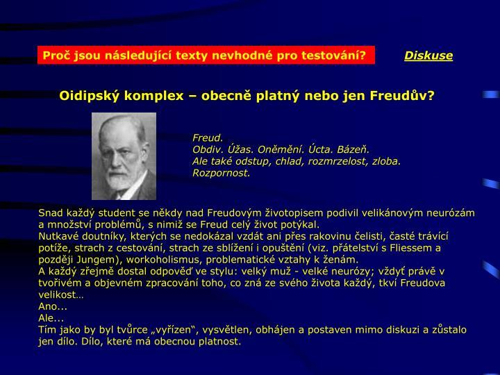 Oidipský komplex – obecně platný nebo jen Freudův?