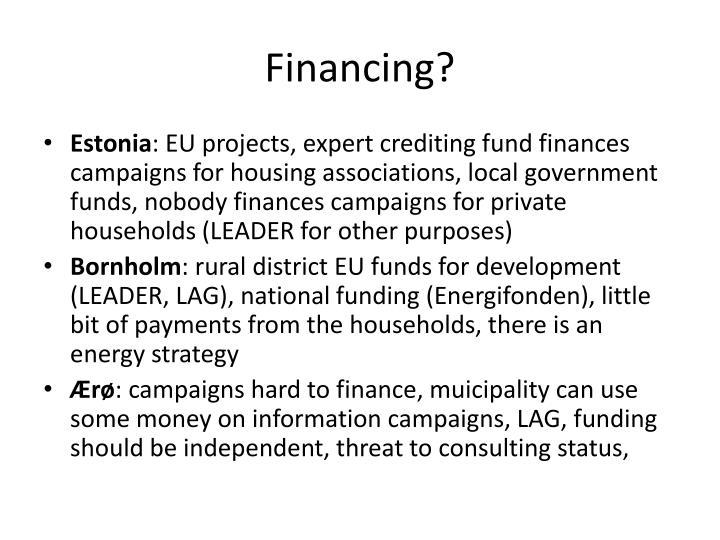 Financing?