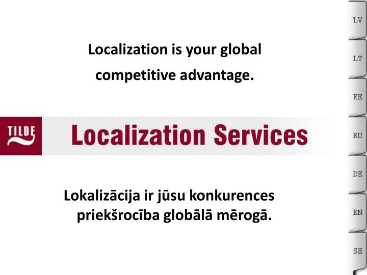 Localization is your global