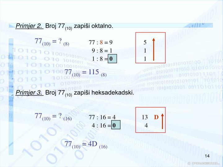 Primjer 2.