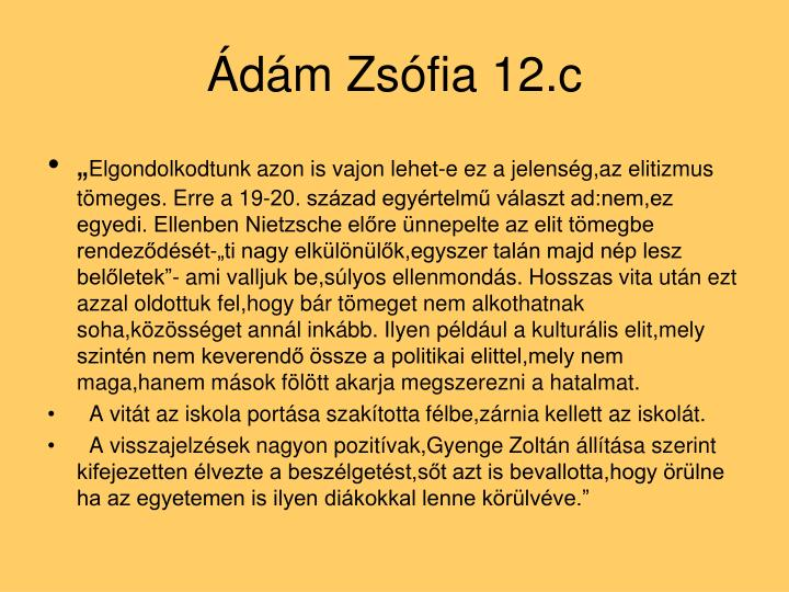 Ádám Zsófia 12.c