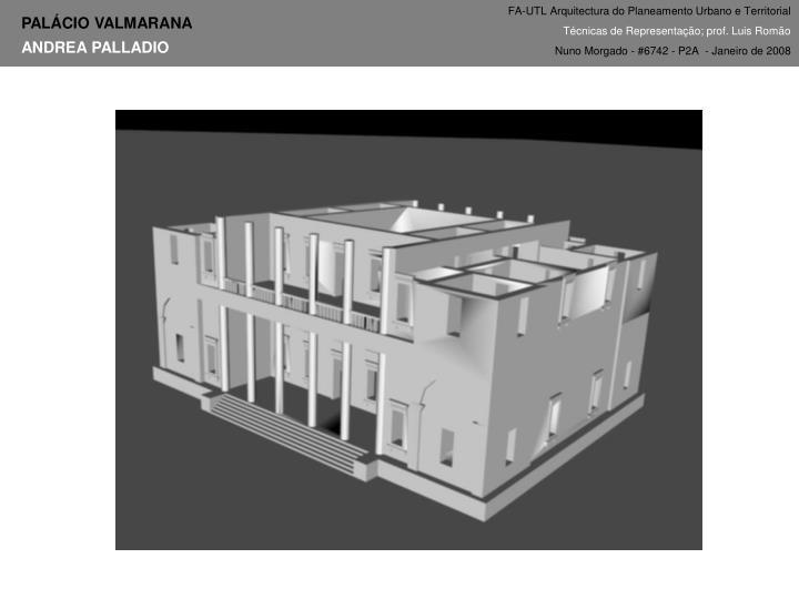 FA-UTL Arquitectura do Planeamento Urbano e Territorial