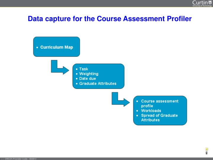 Data capture for the Course Assessment Profiler