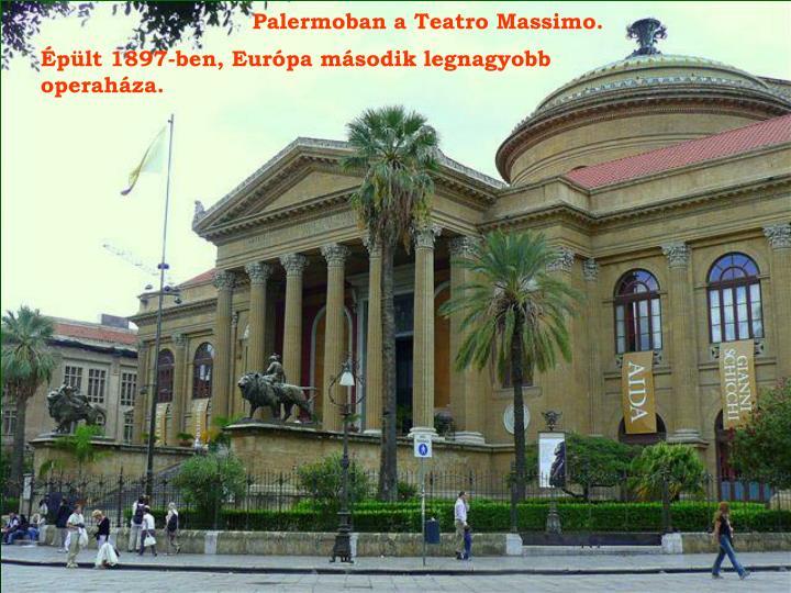 Palermoban a Teatro Massimo.
