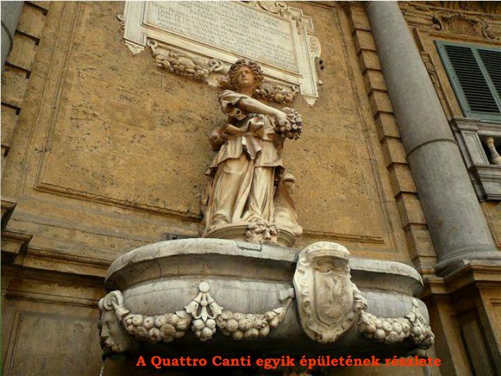 A Quattro Canti egyik épületének részlete